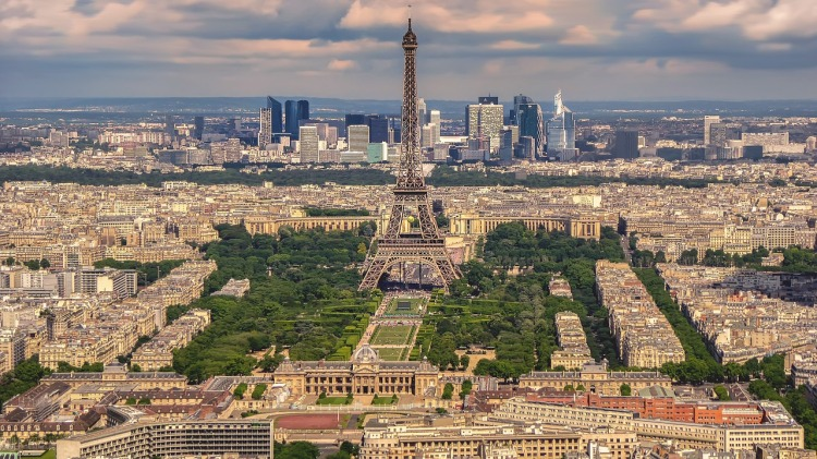 View of Eiffel Tower in Paris, France