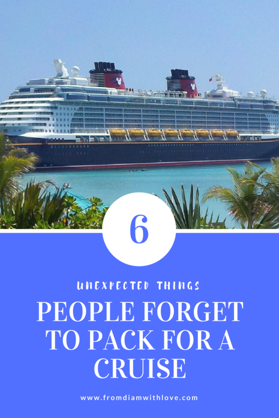 6 unexpected things people forget to pack for a cruise